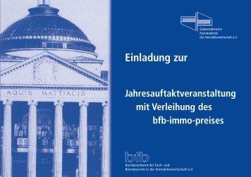 Einladung zur - bfb - Bundesverband der Fach