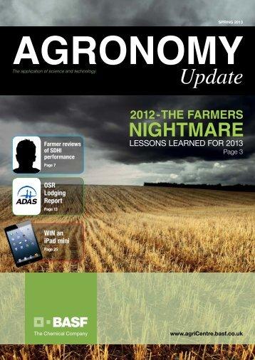 Agronomy Update Spring 2013 - agriCentre UK - BASF