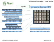 500 Series Softkey Cheat Sheet - Grand Stage Company