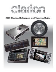 2009 Clarion Reference and Training Guide - Teamclarion.com
