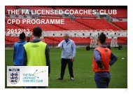 The FA Licensed Coaches Club - The Football Association