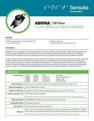 """5011 Series 1/2"""" DISC, HERMETICALLY ... - Airpax - Sensata"""