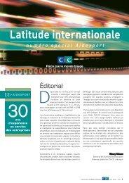 Latitude Internationale n°spécial - CIC
