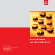 """""""Neun Stichworte zur Chancengleichheit"""" PDF - IG Metall"""