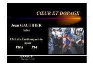 coeur et dopage - Club des Cardiologues du Sport
