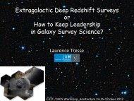 High-z extragalactic surveys