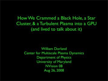 How We Crammed a Black Hole, a Star Cluster, & a Turbulent ...