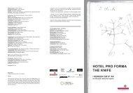HOTEL PRO FORMA THE KNIFE I MORGEN OM ET ÅR en Darwin ...