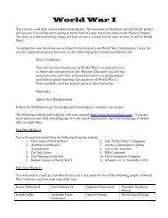 World War I Project - Mr. Primeaux's Website