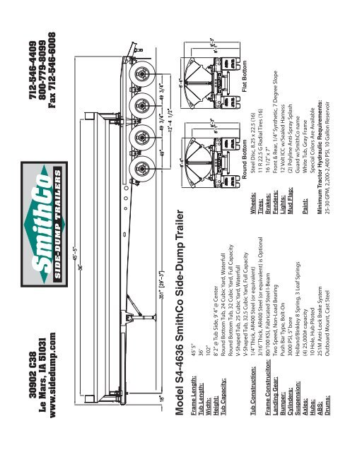 model s44636 smithco sidedump trailer