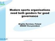 Birgitta KERVINEN - EWS European Women and Sport