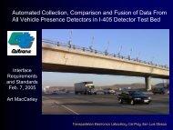 Video Traffic Detection - TRB 2002 - Cal Poly San Luis Obispo