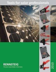Tools for solar professionals