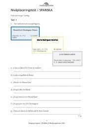 Nivåplaceringstest i SPANSKA - Medborgarskolan