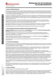 Bedingungen für die Vermietung von ... - Sparkasse Essen