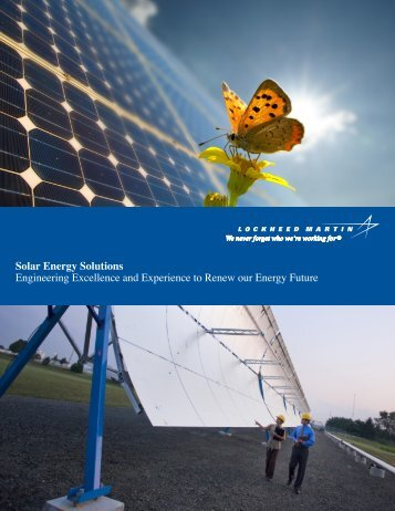 Solar Energy Solutions Engineering Excellence ... - Lockheed Martin