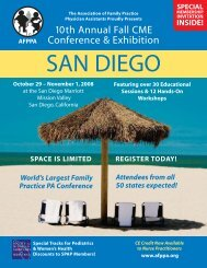 10th Annual Fall CME Conference & Exhibition - Association of ...
