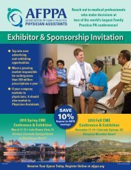 Exhibitor & Sponsorship Invitation - Association of Family Practice ...