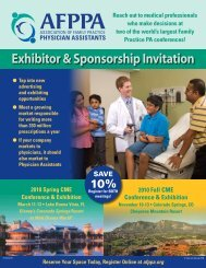 Exhibitor & Sponsorship Invitation - Association of Family Practice ...
