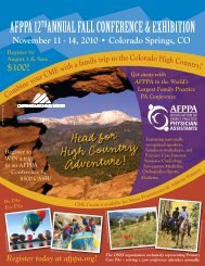 AFPPA 12thAnnuAl FAll ConFerenCe & exhibition - Association of ...