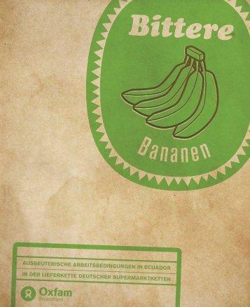 Studie: Bittere Bananen - Oxfam