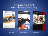 Prepared 4 ENT An ENT Educational Training ... - Northern Deanery