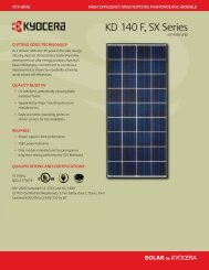 KD 140 F, SX Series - KYOCERA Solar