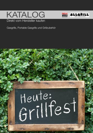 Paella World & Allgrill Katalog 2012 Endkunden - Paella.de