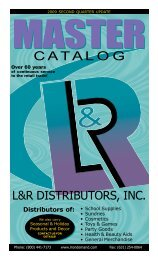C A T A L O G  - L&R Distributors, Inc.
