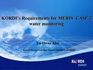 KORDI's requirements for MERIS CASE-2 water monitoring - Yu ...