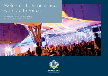 Welcome to your venue with a difference - Manchester Airport