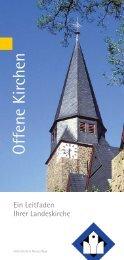 Offene Kirchen: Leitfaden - Evangelische Kirche im Rheinland