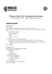 Minutes of the COL Working Group Meeting - IERS