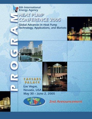 8th IEA Heat Pump Conference 2005 - Oak Ridge National Laboratory