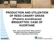 PRODUCTION AND UTILIZATION OF REED CANARY GRASS ...