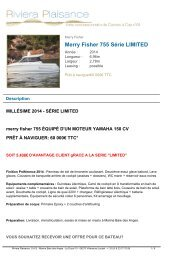 Merry Fisher 755 2013 - Riviera Plaisance