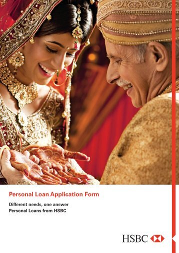 Personal Loan Application Form - HSBC
