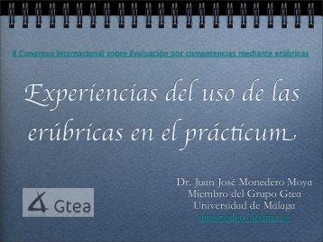 Experiencias del uso de las erúbricas en el practicum - Gtea ...