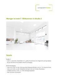 in Studio 3 Details - Spreegraphen Studios