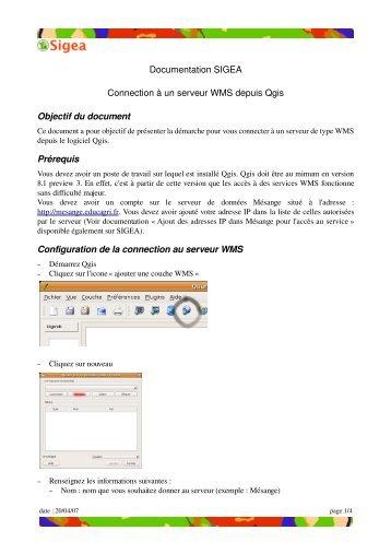 Connection de Qgis à un WMS - Sigea - Educagri
