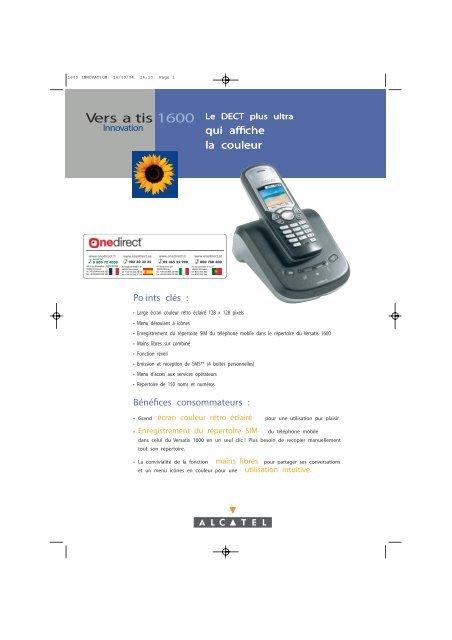 Alcatel Versatis 1600 Téléphones Sans Fil Dect Onedirect