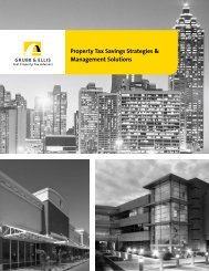 Property Tax Savings Strategies & Management ... - Grubb & Ellis
