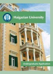 Undergraduate Application Form - Haigazian University