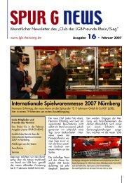 spurgnews16-7 Februar.qxp - Spur G Magazin