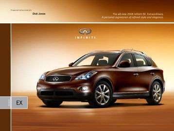 The all-new 2008 Infiniti EX. Extraordinary. A personal expression of ...