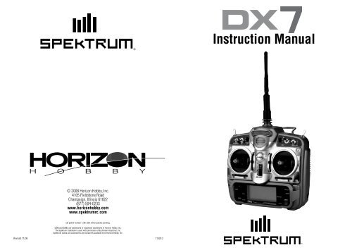DX7 Manual - Spektrum   Spektrum Dx7 Rc Helicopter Wiring Diagram      Yumpu