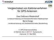 Vergleichstest von Kalibrierverfahren für GPS-Antennen
