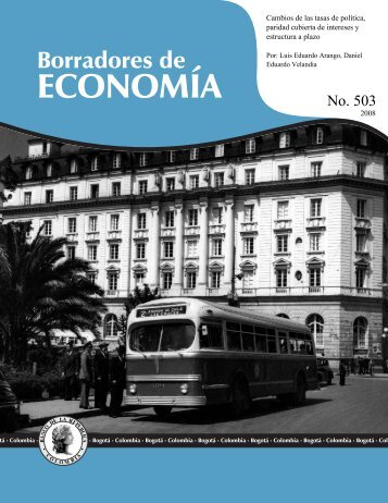 Arango, L. E.; Velandia, D. E. (Banco de la República)