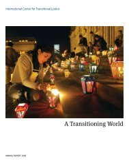 2008 Annual Report - International Center for Transitional Justice