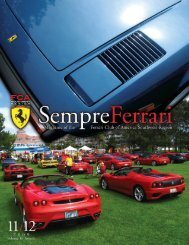Volume 16 Issue 6 - November/December 2009 - Ferrari Club of ...